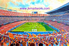 Hand Painted original of nou camp